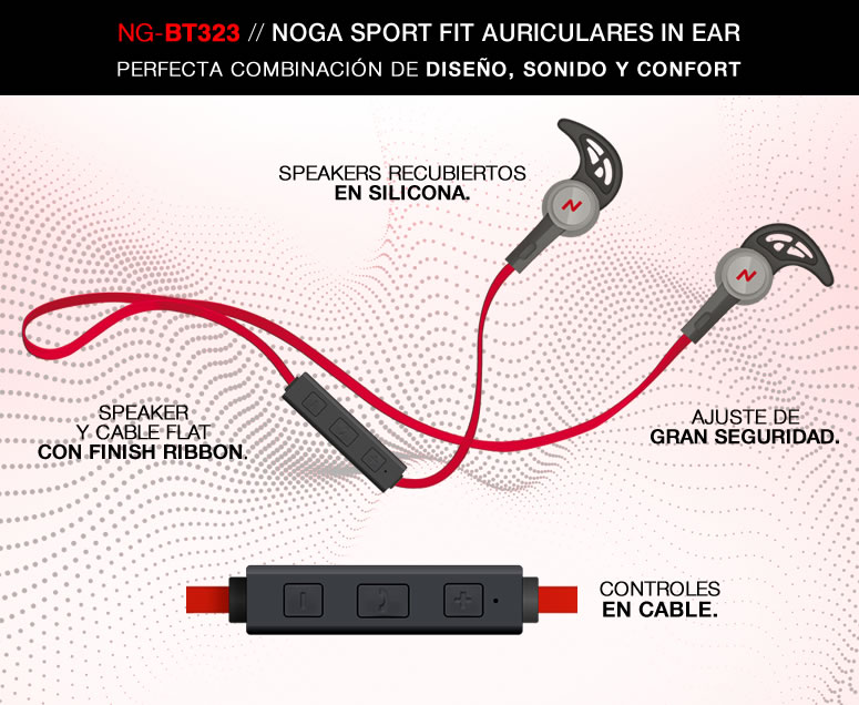 Auricular Noga Sport Fit Ng Bt323 In Ear Inalambricos